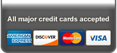 All major credit cards accepted.